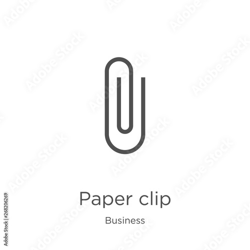 Cuadros en Lienzo paper clip icon vector from business collection