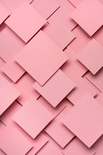 Pink Square Paper Material Design
