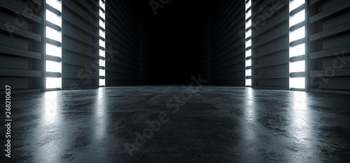 Fotografía  Futuristic Modern Sci Fi Concrete Hallway Corridor Tunnel Warehouse Underground