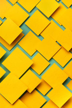 Blue And Yellow Paper Material Design