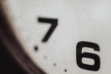 Close Up Of Numbers Of A Old Clock