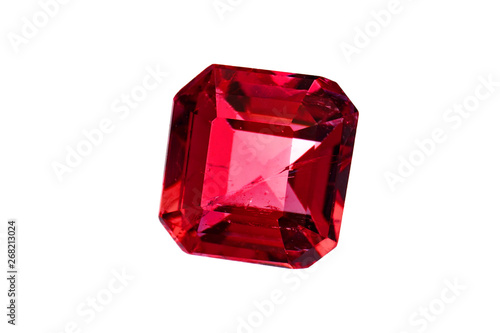 Fotografía red diamond ruby and gemstone crystal for jewels sapphire