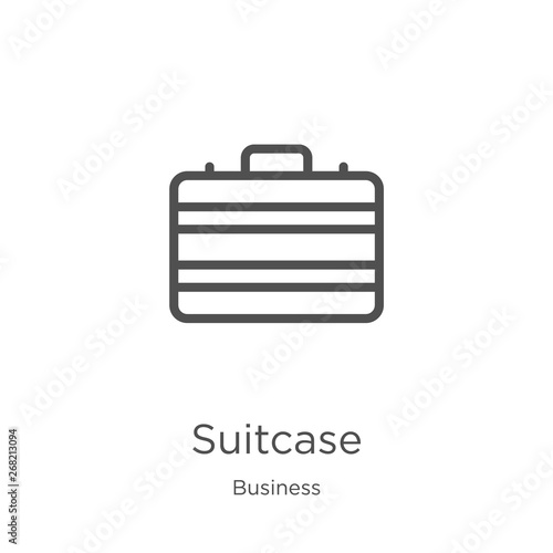 suitcase icon vector from business collection. Thin line