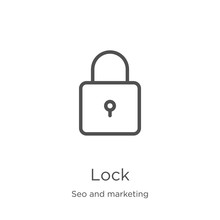 Lock Icon Vector From Seo And ...