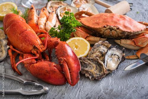 Fotomural  assorted crustacean image