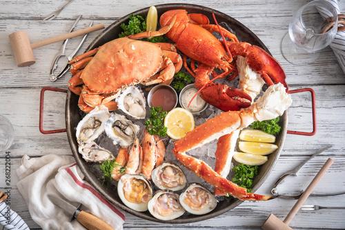 Obraz na plátne gorgeous seafood platter image