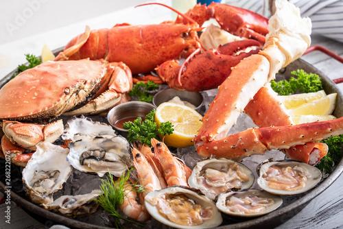 gorgeous seafood platter image Tapéta, Fotótapéta