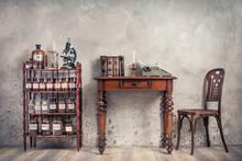 Old Laboratory Bottles, Vintag...