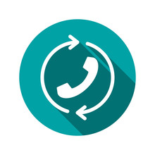 Call, Handset, Recall Icon. Redial Icon. Element Of Phone For Mobile Concept And Web Apps Illustration. Flat Icon For Website Design And Development.