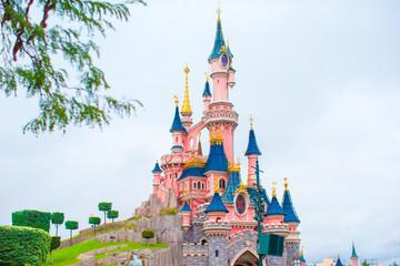 Wonderful magic princess castle at fairy-tale park