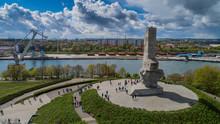 Pomnik Westerplatte Ku Pamięci Polskich Obrońców Z Lotu Ptaka