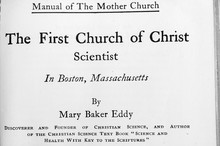 Christian Science Church Manual By Mary Baker Eddy