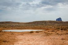 Watering Hole Near Shiprock,New Mexico