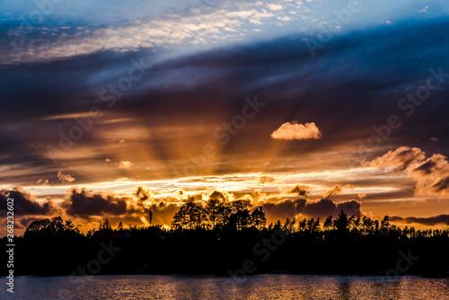 Fototapeta Bajkowe promienie słoneczne obraz
