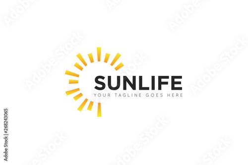 Obraz sun logo and icon vector illustration design template - fototapety do salonu