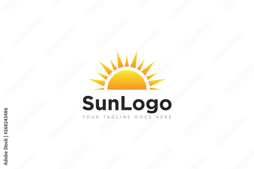 Fototapeta sun logo and icon vector illustration design template