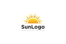 Sun Logo And Icon Vector Illus...