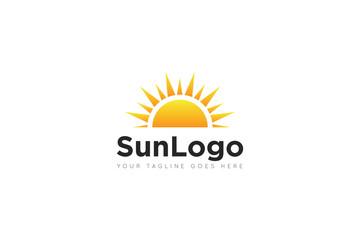 sun logo and icon vector illustration design template