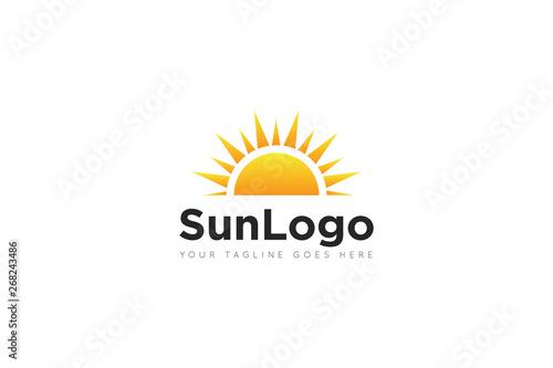 Fototapeta sun logo and icon vector illustration design template obraz