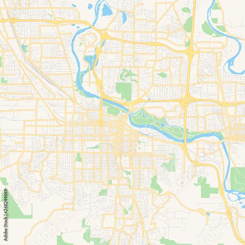 Empty vector map of Eugene, Oregon, USA – kaufen Sie diese ...