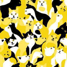 Seamless Pattern With Bicolor ...