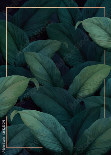 Tropical foliage background Poster Mural XXL