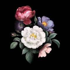 Panel Szklany Róże Roses in bloom
