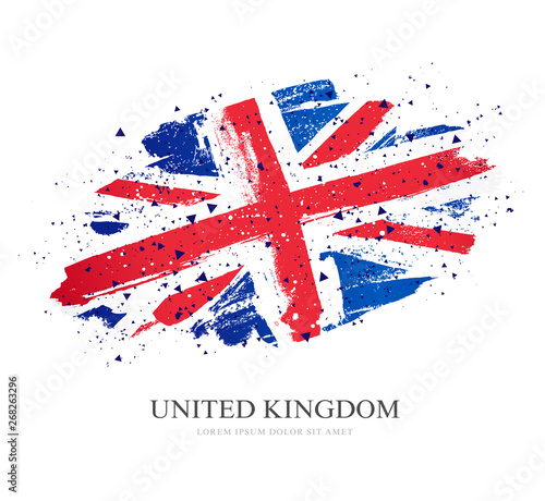 Leinwand Poster Flag of the Great Britain. Vector illustration