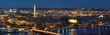 canvas print picture - Panorama Top view scene of Washington DC down town which can see United states Capitol, washington monument, lincoln memorial and thomas jefferson memorial, history and culture for travel concept