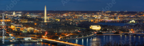Printed kitchen splashbacks Akt Panorama Top view scene of Washington DC down town which can see United states Capitol, washington monument, lincoln memorial and thomas jefferson memorial, history and culture for travel concept