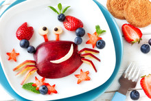Fun Food For Kids. Cute Smilin...