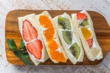 フルーツサンドウィッチ Beautiful And Delicious Fruit Sandwich