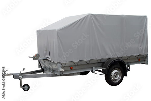 Fotografie, Obraz  Modern Car trailer with canvas awning.