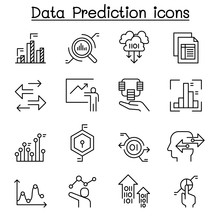 Data Prediction Icon Set In Th...