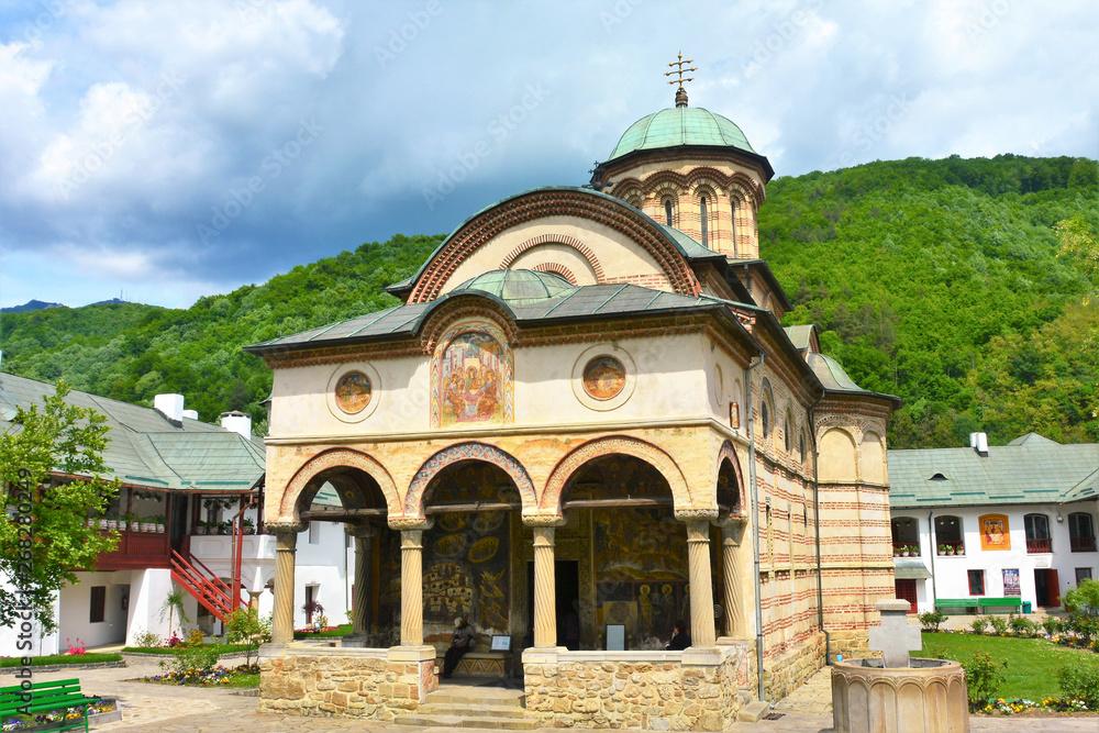 Fototapety, obrazy: the Cozia Monastery in Caciulata resort - Romania 12.May.2019