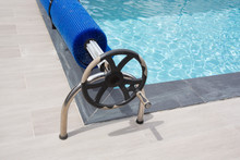 Pool Blue Bubble Cover Winder Swimming Detail Steering Wheel