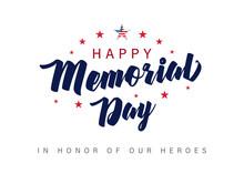 Memorial Day Lettering Banner....