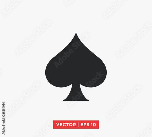 Spades Ace Icon Vector Illustration Wallpaper Mural
