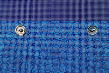 Blue Mosaic Tiles Background Wall