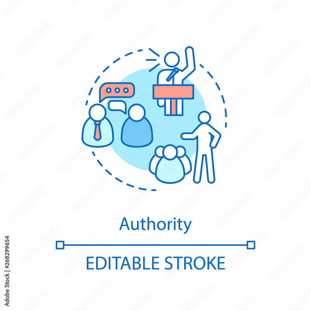 Fototapeta Authority concept icon