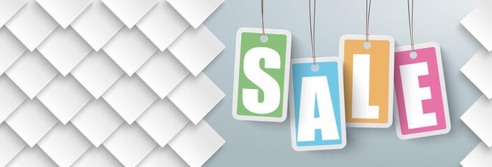 Obraz na PlexiRhombus Shapes Price Stickers Sale Header