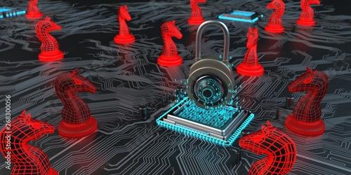Pinturas sobre lienzo  Gute Hardware Verschlüsselung hält die Trojaner fern