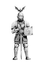 Fantasy Medieval Knight Illust...