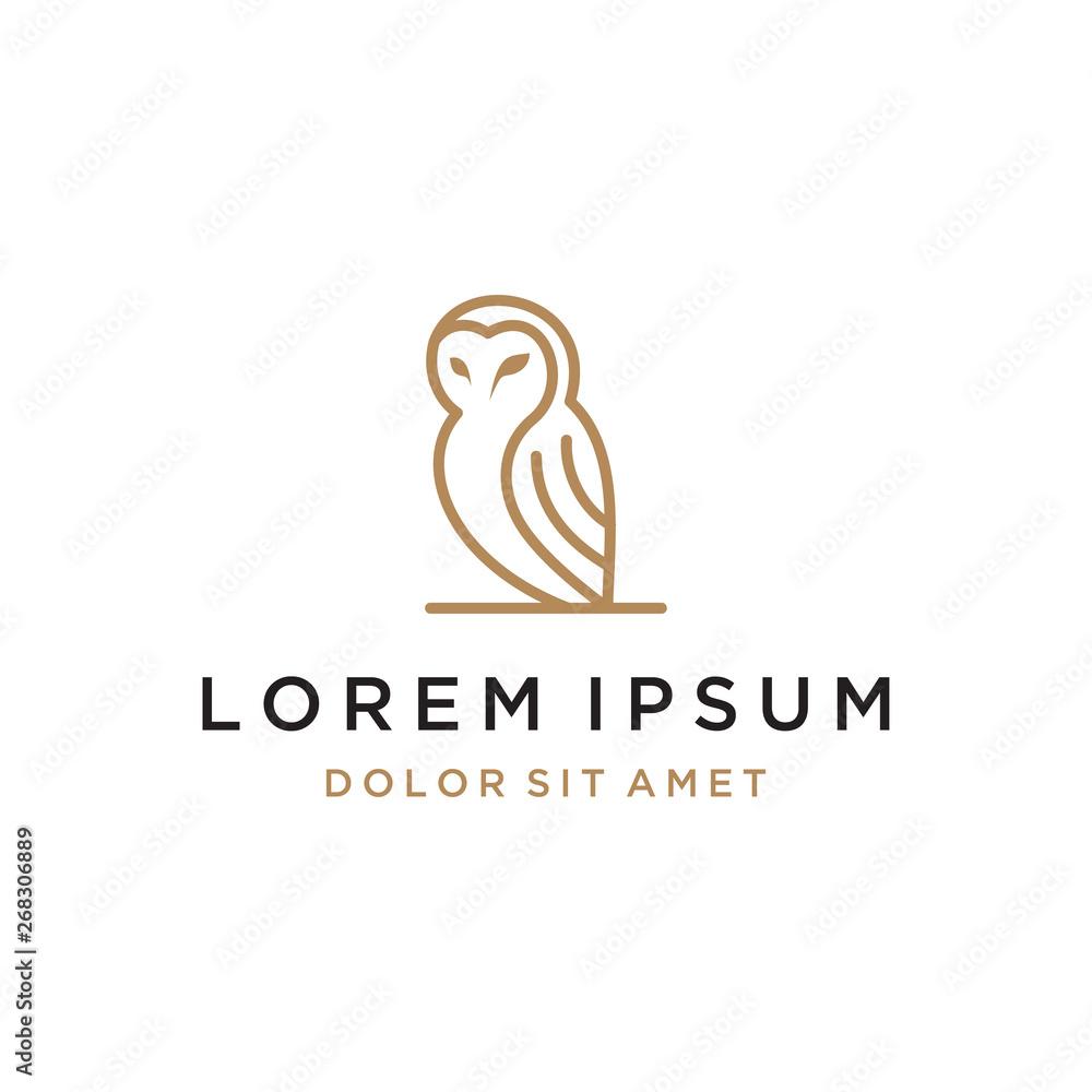 Fototapety, obrazy: owl line concept vector logo design