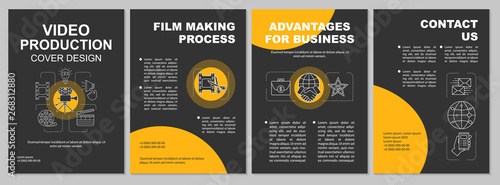 Video production agency brochure template layout Wallpaper Mural