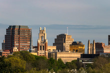 New Haven, Connecticut, USA The City Skyline And Yale University.