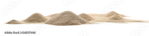 Fotografija Desert sand pile, dune isolated on white background