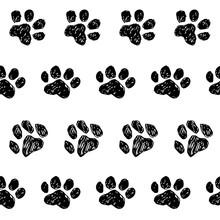 Cat Dog Tracks Pattern Ink Han...