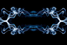 Graphic Work Created From Smoke Has Itsown Identity