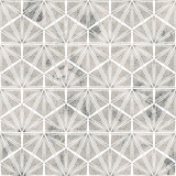 Geometry modern repeat pattern with textures - 268329633